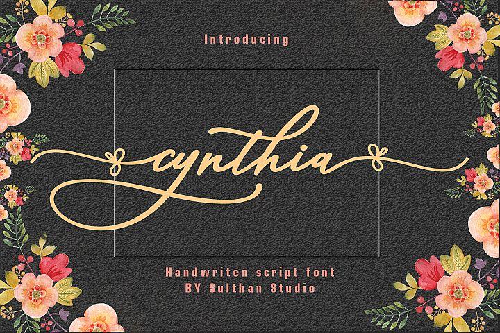 Cynthia script