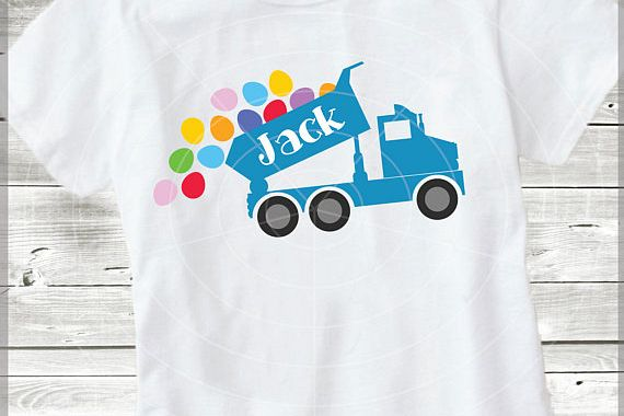 Easter Truck with eggs - Easter Truck svg - Dump truck svg