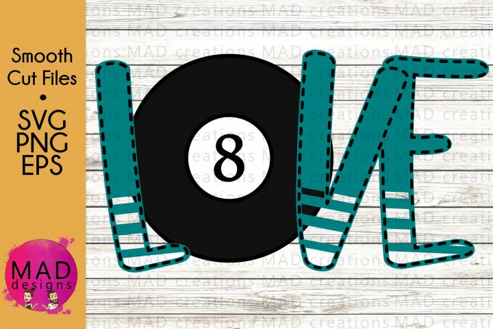 Sports - Love Pool Billiards - SVG, PNG, EPS