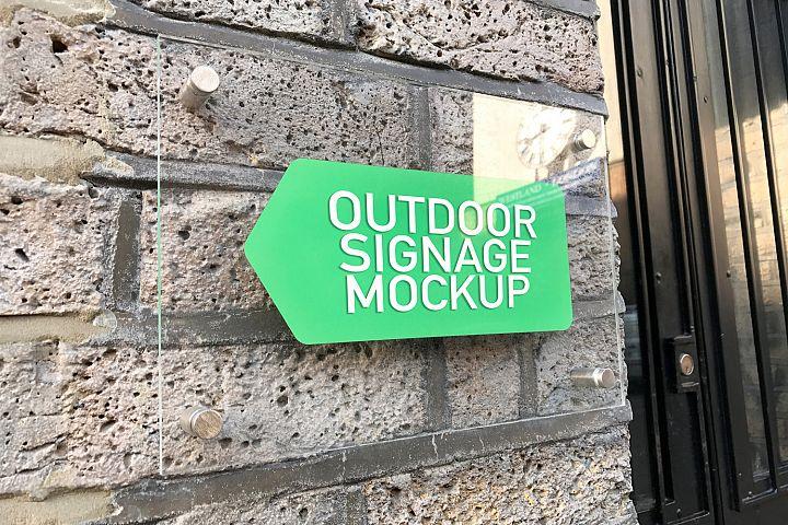 Outdoor signage mockup