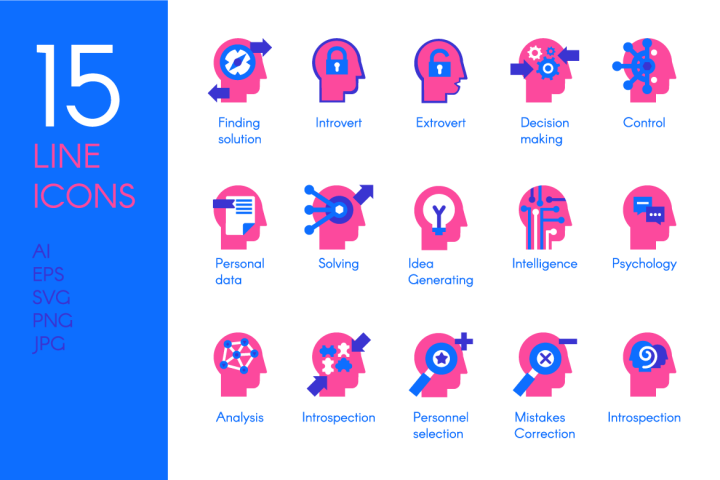 Brain Processes Icons Set