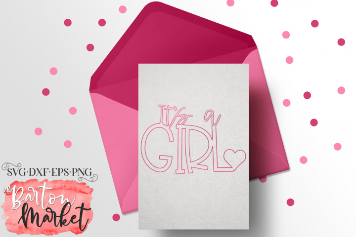 Its A Girl - A Foil Quill Inspired File