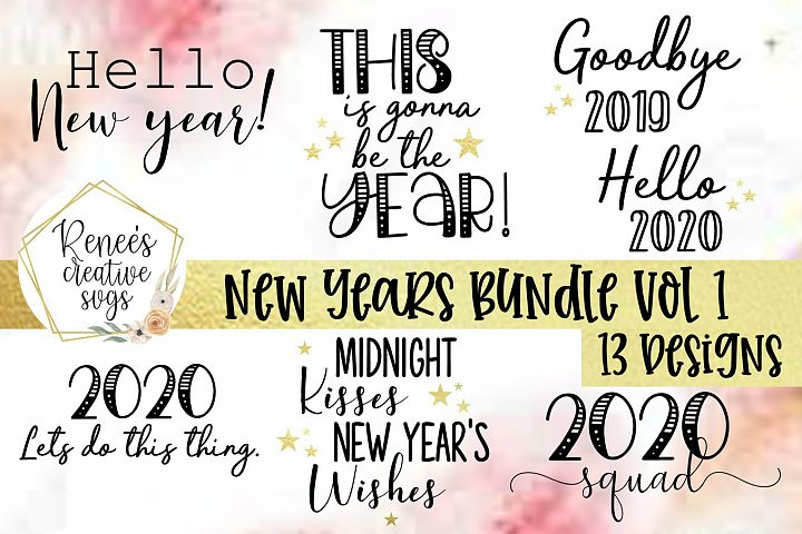 New Years Bundle Vol 1|New Years|SVG Cut File