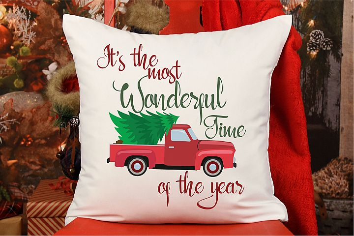 Its The Most Wonderful Time Of The Year SVG, Vintage Truck