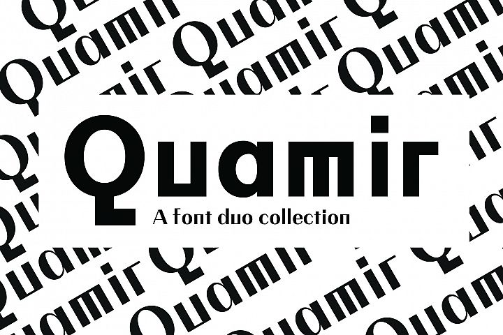 QUAMIR, A Display Font Duo