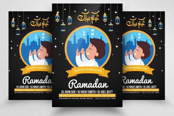 Ramadan Eid Mubarak Flyer