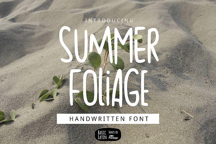 Summer Foliage Font