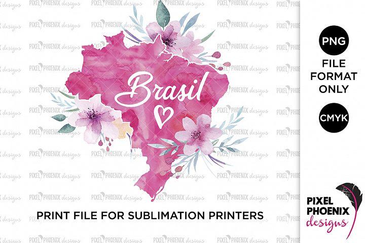 Brasil Sublimation Design