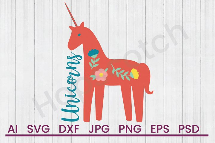 Unicorn SVG, DXF File, Cuttatable File
