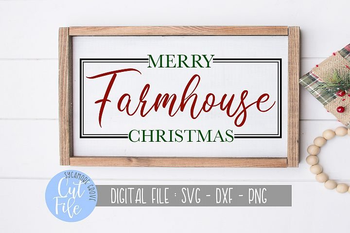 Merry Farmhouse Christmas | Winter Christmas SVG