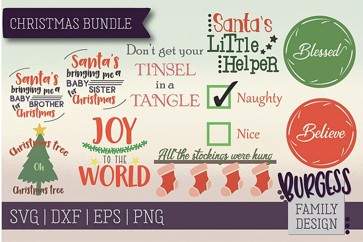Christmas bundle | SVG DXF EPS PNG example
