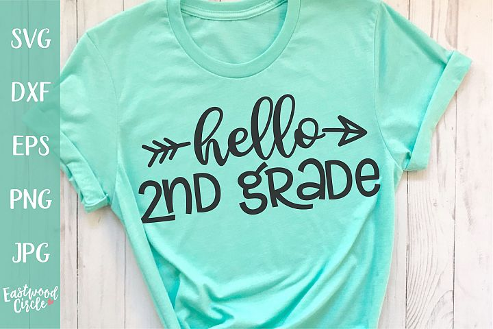 Hello 2nd Grade - School SVG for Crafters
