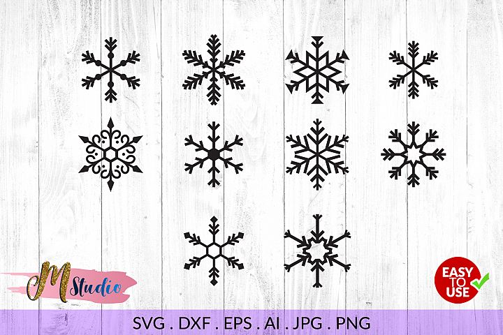 Snowflakes svg, for Silhouette Cameo or Cricut.