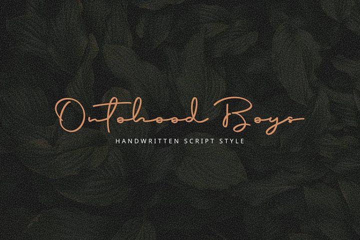 Script Font - Ontoohood Boys