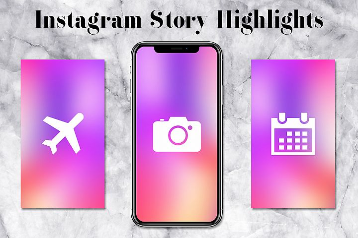 Colorful Instagram Story Icons