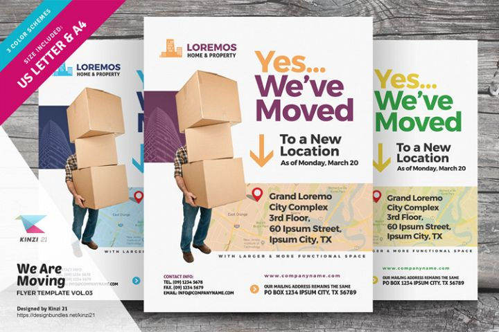 We Are Moving Flyer Vol.03