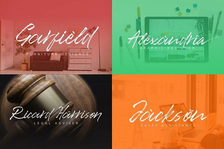 Ancient Handbrush Typeface example 3