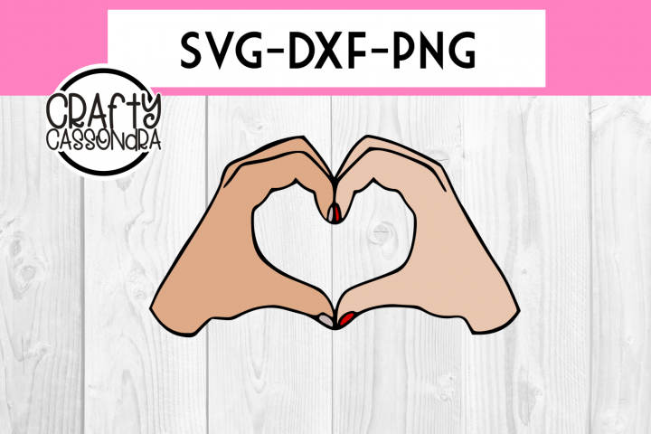 Valentines SVG - Love SVG - couple hands making a heart