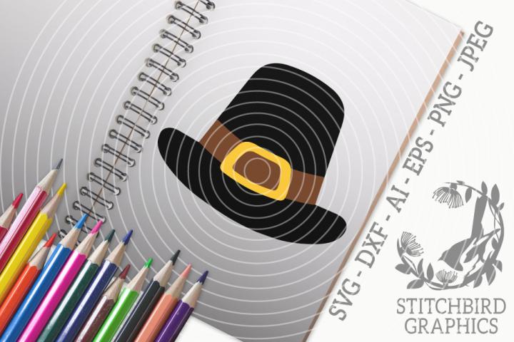 Pilgrim Hat SVG, Silhouette Studio, Cricut, Eps, Dxf, PNG