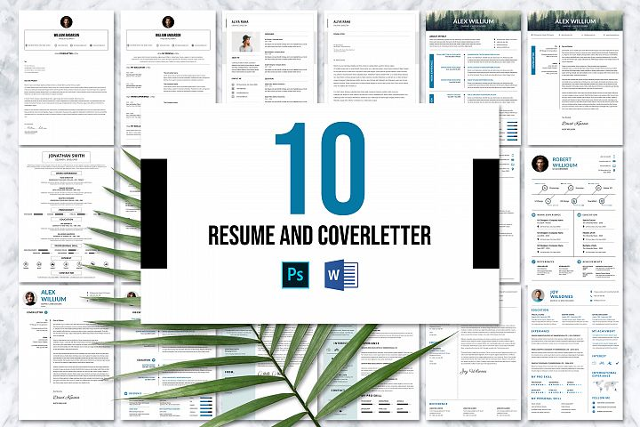 10 Resume & Cover Letter Bundle