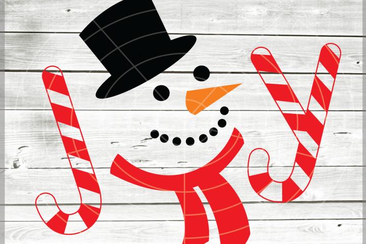 Joy SVG -Snowman Svg - Christmas SVG - Snowman Joy SVG