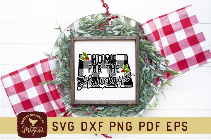 North Dakota Buffalo Plaid State SVG Mini Bundle