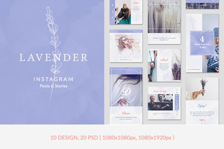 Instagram Posts & Stories - Lavender