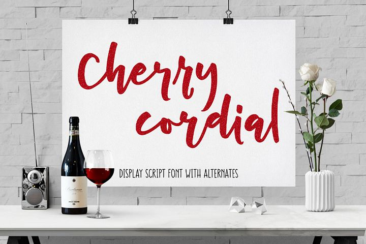 Cherry Cordial - script display font