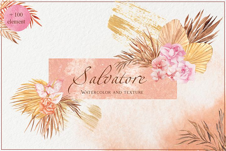 Salvatore. Watercolor and texture