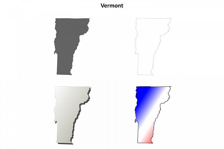 Vermont outline map set