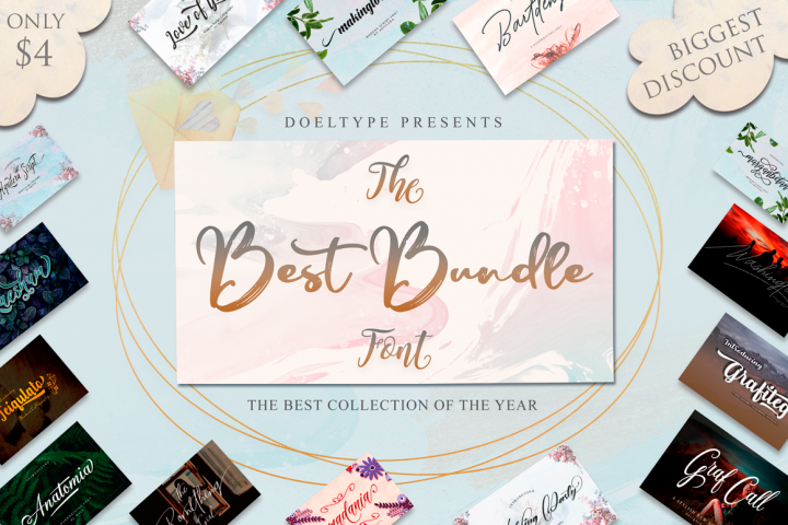 The Best Font Bundle Collection