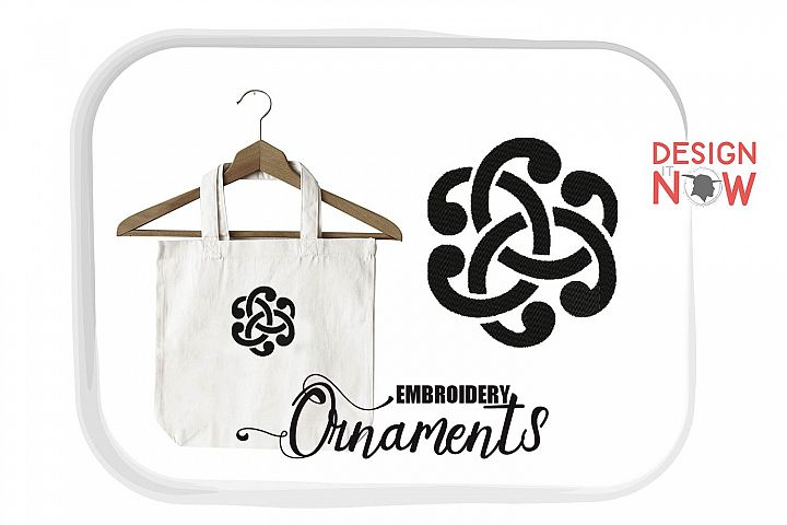 Ornament Embroidery Design, Floral Corner Embroidery Art
