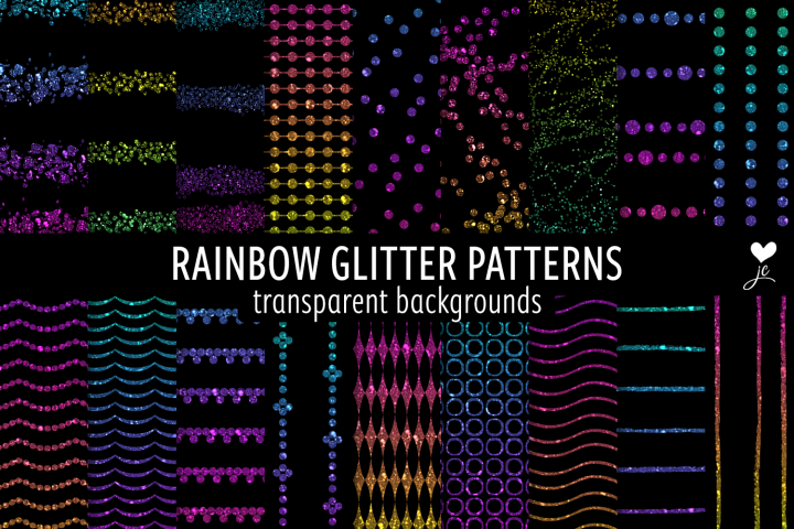 Rainbow Glitter Patterns