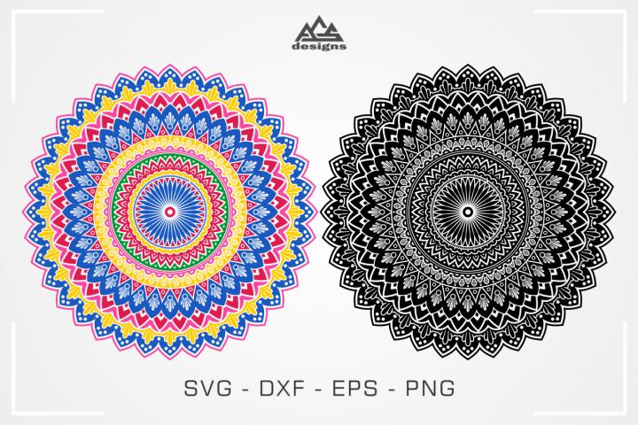 Color Mandala Zentangle Svg Design