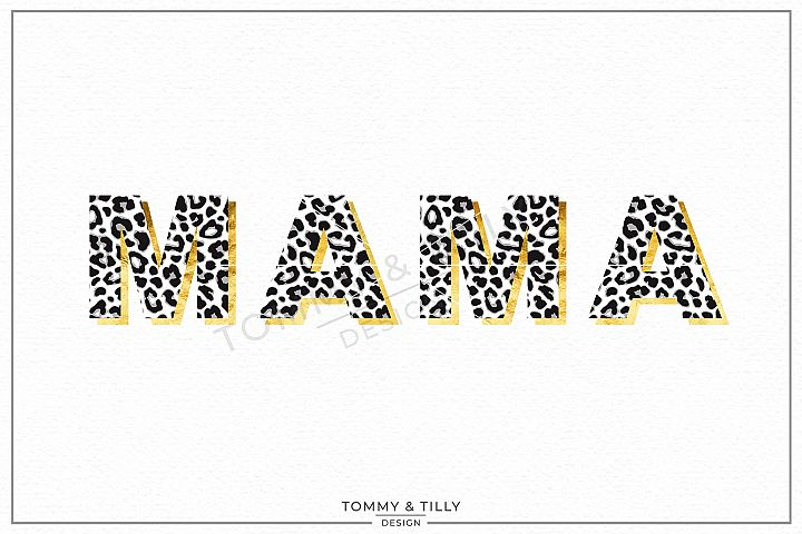 Leopard Print Mama - Sublimation PNG Clipart