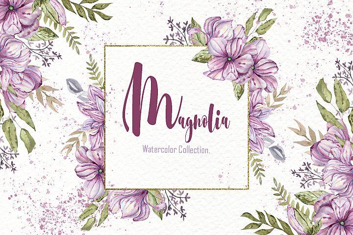 Watercolor Magnolia Collection