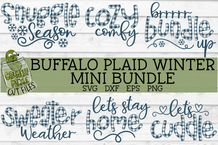 Buffalo Plaid Winter Mini SVG Bundle