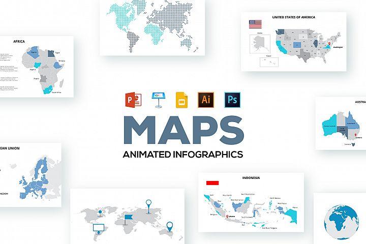 Maps animated presentations