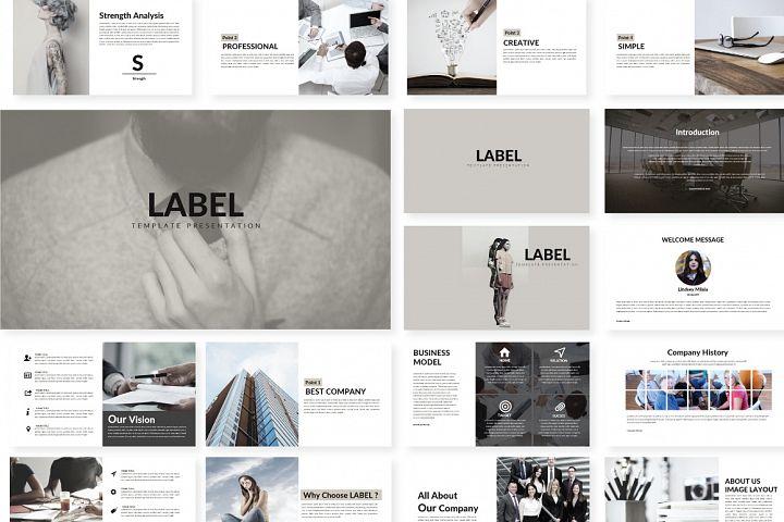 Label Presentation Template