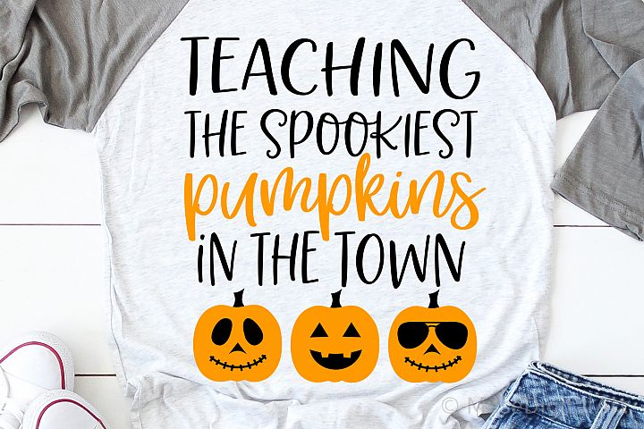 Teacher Halloween Svg, I Teach the Spookiest Pumpkins Svg