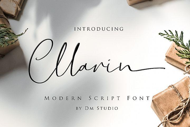 Cllarin - Modern Script Font