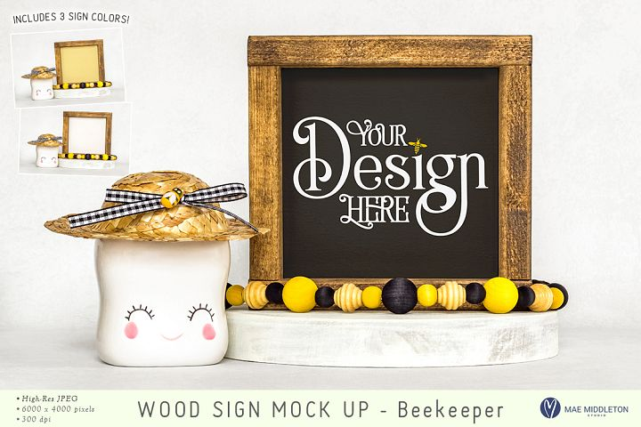 Wood Sign mock up, styled photos