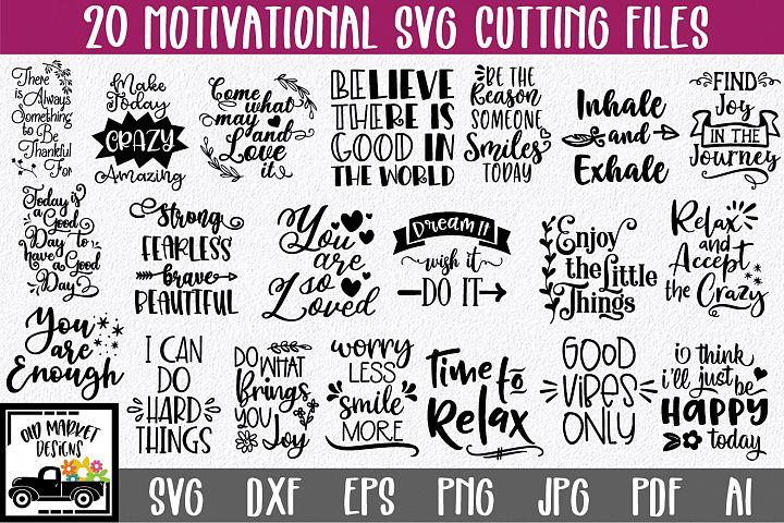 Motivational and Inspirational SVG Bundle