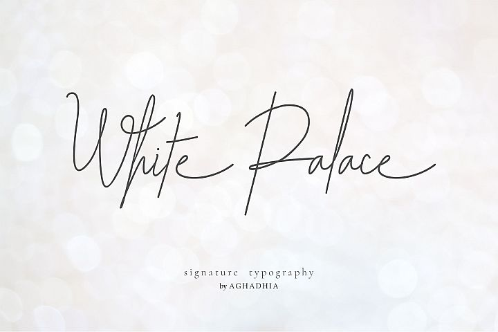 White Palace Script - Font Duo