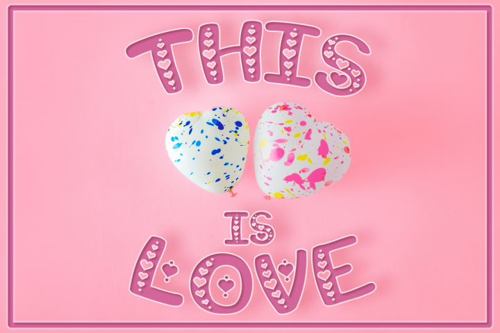 This is Love | Valentines Craft Font