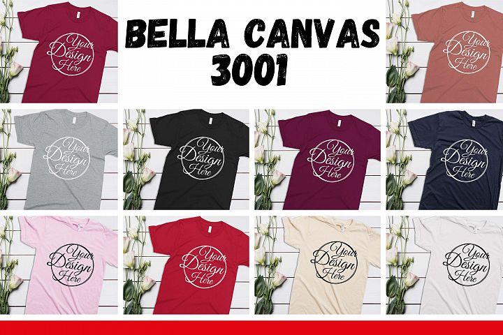 10 Mockups Bella Canvas 3001 Unisex Tshirt