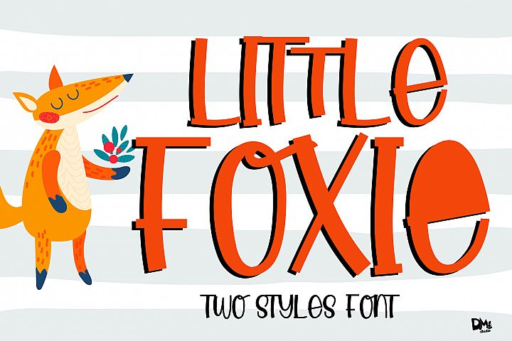 Little Foxie -- Two Styles ALL Caps Font