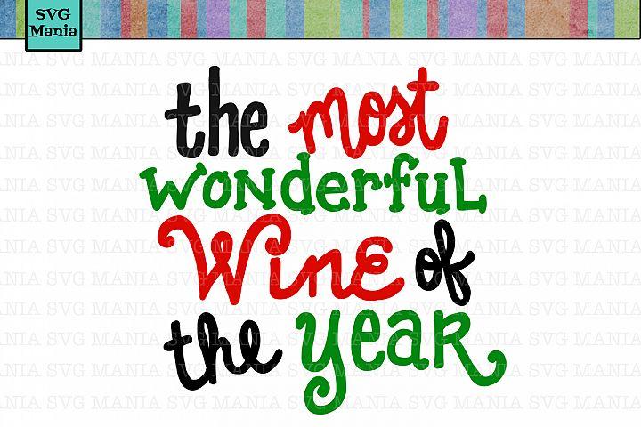 Christmas Wine Glass SVG File Funny, Funny Christmas SVG