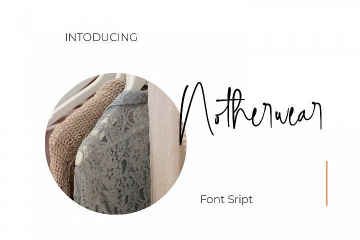 Notherwear font script