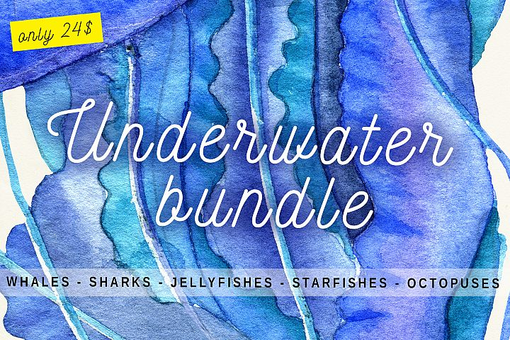 Underwater Bundle - Whales, Sharks, Jellyfishes, Octopuses